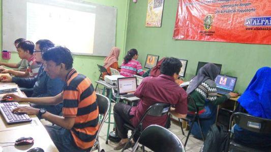 Pelatihan Photoshop Komputer Grafis Alfabank Yogyakarta Dinas Koperasi UKM Nakertrans Jogja 7