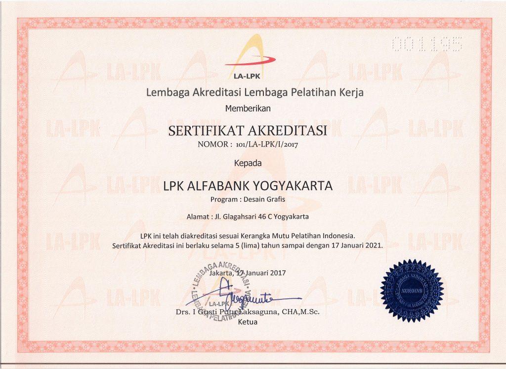sertifikat akreditas desain grafis