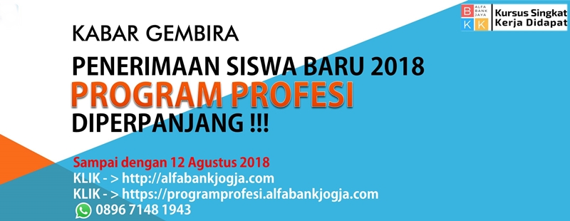 pendaftaran program profesi alfabank yogyakarta