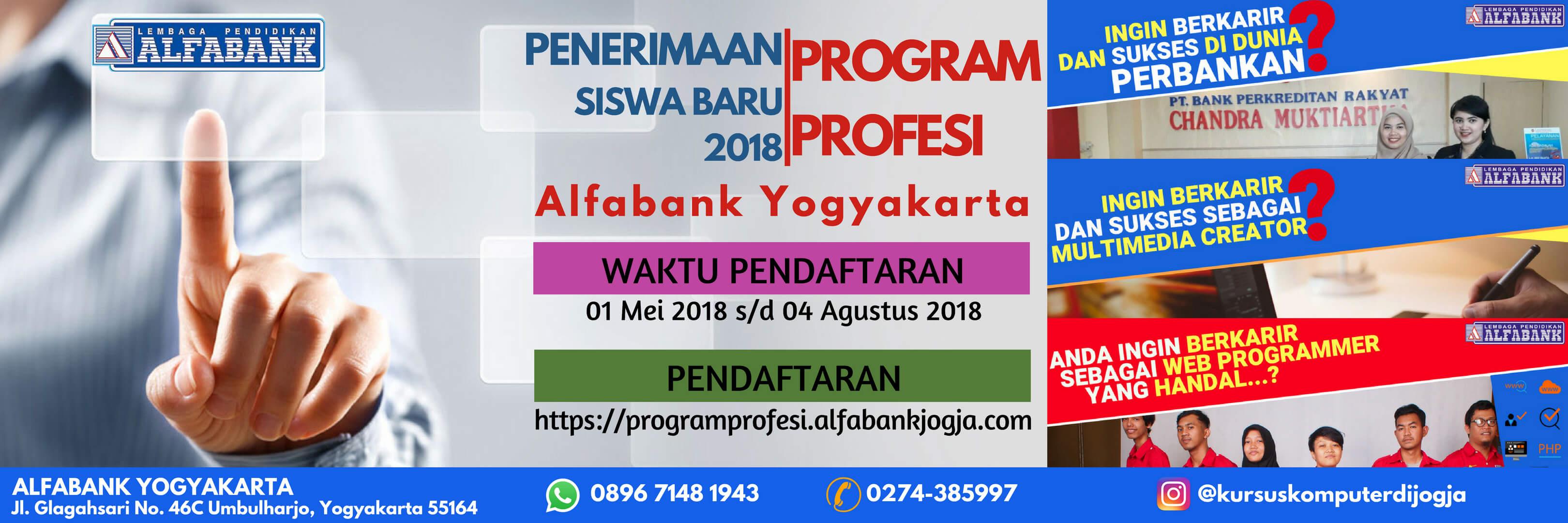 Penerimaan Siswa Baru Program Profesi Alfabank Yogyakarta