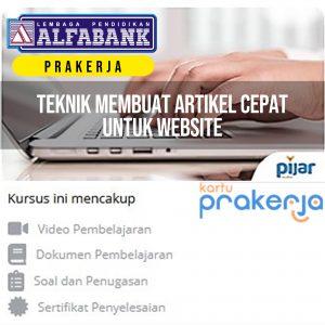 Kelas Online Content Writer Prakerja Pijar Mahir Alfabank Yogyakarta