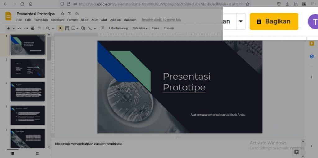 cara membuat presentasi di google slide